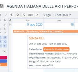 AGENDA ITALIANA ARTI PERFORMATIVE 2020